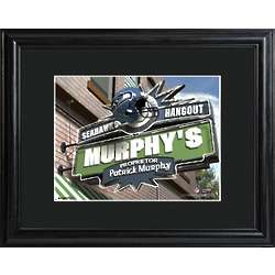 Seattle Seahawks Personalized Tavern Sign Print with Matted Frame