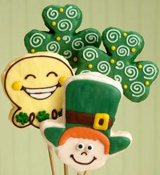 St Patrick's Day Crispy Pops