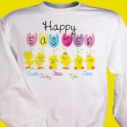 Personalized Happy Easter Sweatshirt