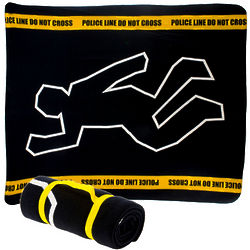 Crime Scene Fleece Blanket