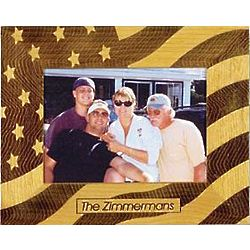 Personalized Stars and Stripes Wooden Frame