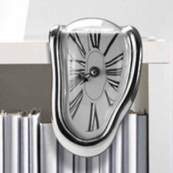 Melting Bookshelf Clock