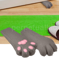 Here Kitty Cat Paw Doorstop