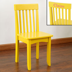 Kid's Personalized Yellow Avalon Chair