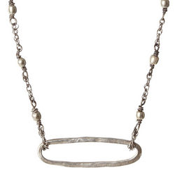 Open Oval Sterling Silver Necklace