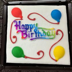 Happy Birthday Fudge Brownie Cake
