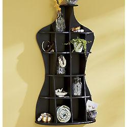 Mannequin Shaped Knick Knack Shelf
