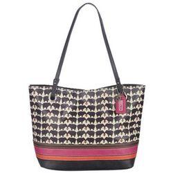 Black and White Elephant Print Handbag