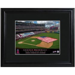 Los Angeles Angels Personalized Ballpark Print with Matted Frame