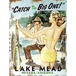 Personalized Catch the Big One Vintage Wooden Plaque