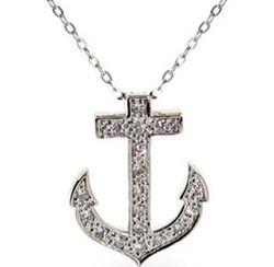 Tiffany Inspired Cubic Zirconia Anchor Pendant