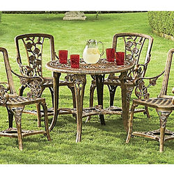 Rose Motif Bistro Patio Set
