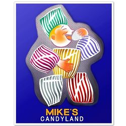 Personalized Candyland Print in Blue