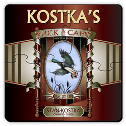 Personalized Duck Camp Puzzle Coaster Set