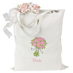 Rose Bouquet Bride Tote