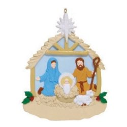 Mary Joseph & Christ Child Nativity Ornament