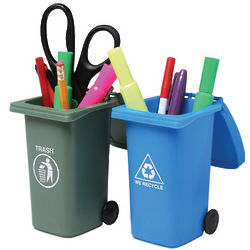 Trash and Recycling Mini Storage Bins