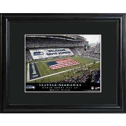Seattle Seahawks Personalized Stadium Print with Matted Frame