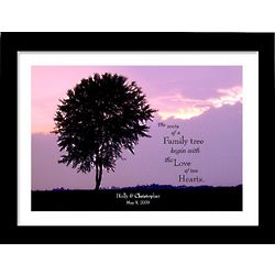 Personalized Two Hearts 14x18 Framed Print
