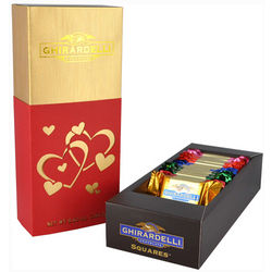 Hearts Silhouette Gift Box with Chocolate Squares