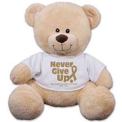 Never Gift Up Awareness Teddy Bear