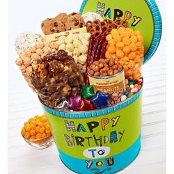 2 Gallon Great Big Happy Birthday Gourmet Snack Tin