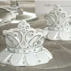 Queen for a Day Sparkling Tiara Place Card Holder