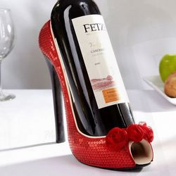 Red Roses Stiletto Wine Holder