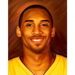 Kobe Bryant in Jersey Pop Art Print