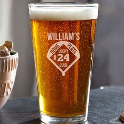 Home Plate Club Personalized Beer Glass