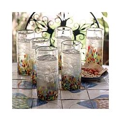 """Confetti"" Highball Glasses"