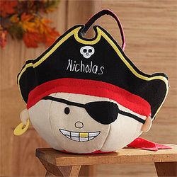 Pirate Embroidered Trick or Treat Bag