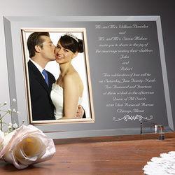 Wedding Invitation Personalized Frame