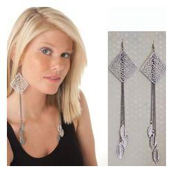 Stylish Boho Filigree Metal Dangle Earrings
