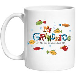 Personalized Grandkids are the Greatest Catch Mug