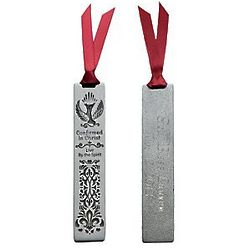 Personalized Pewter Confirmation Bookmark