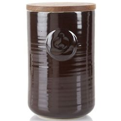 Brown Retro Stoneware Tea Jar
