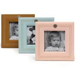 Faux Leather Baby Photo Frame