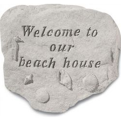 Welcome to Our Beach House Sea Shore Stone