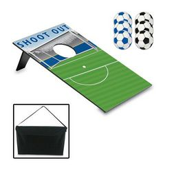 Soccer Field Bean Bag Toss with Carrying Case