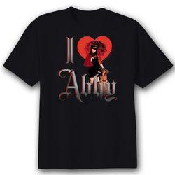 NCIS I Heart Abby Women's Black T-Shirt