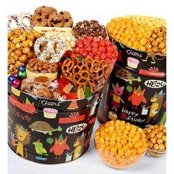 Birthday Animal Popcorn and Snack Tins