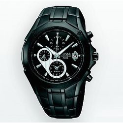 Men's Stainless Steel Black Ion Chronograph Watch