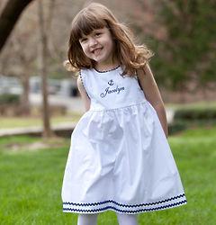 Child's Cotton Pique Anchor Dress