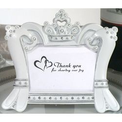 Queen for a Day Sparkling Tiara Place Card and Photo Frame Favor