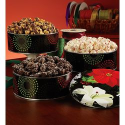 Dark Chocolate Sea Salt Popcorn Tin