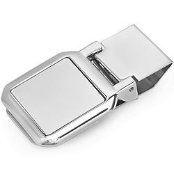 Personalized Square Face Hinged Money Clip
