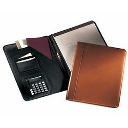 Leather Writing Padholder with Calculator