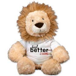 Personalized Feel Better Lion Stuffed Animal