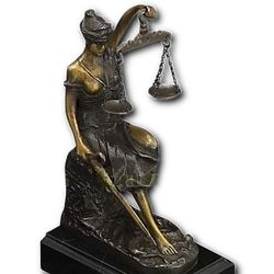 Seated Lady Justice Statue